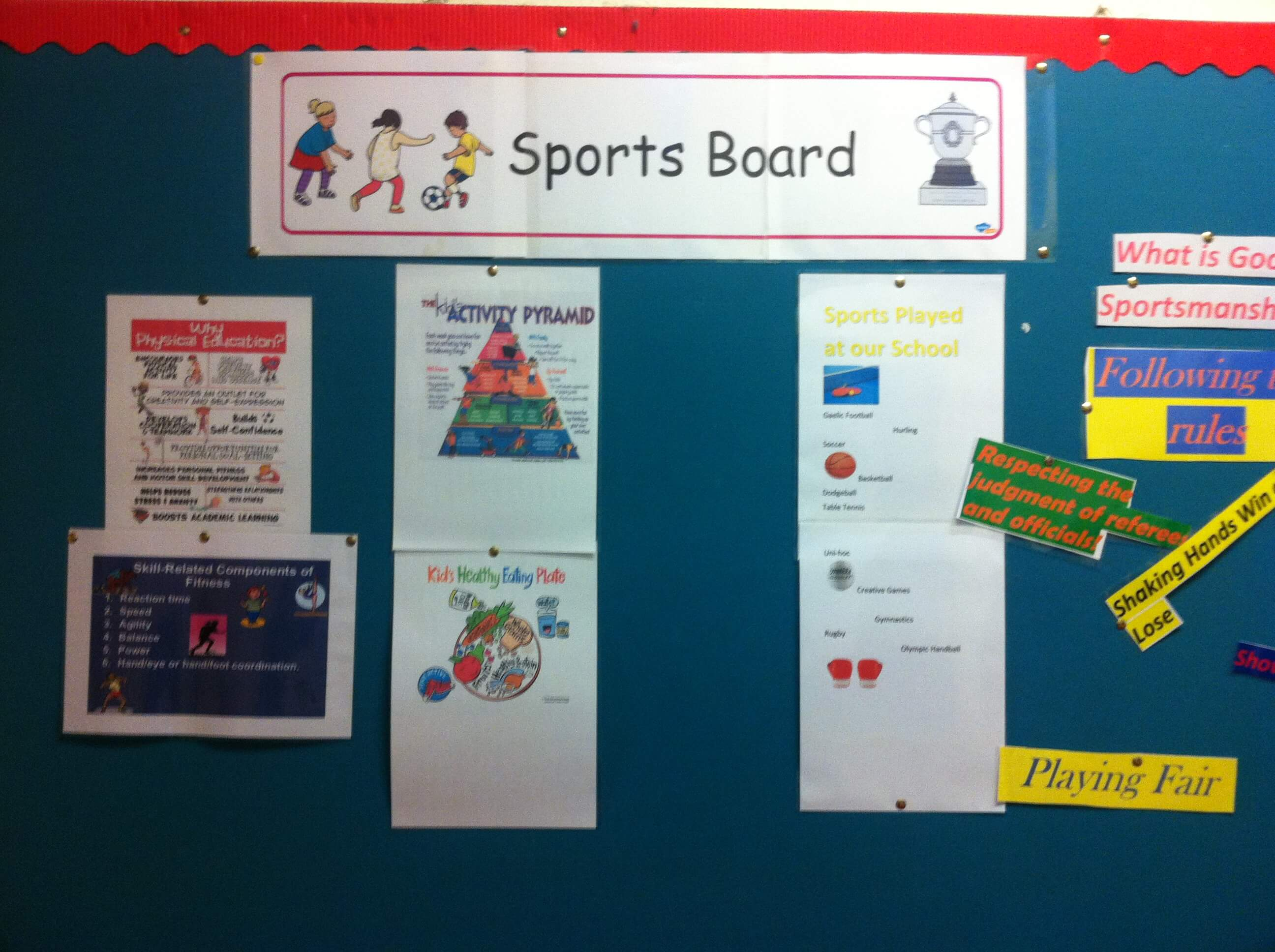 A photo of a St Laurences BNS Sports Board