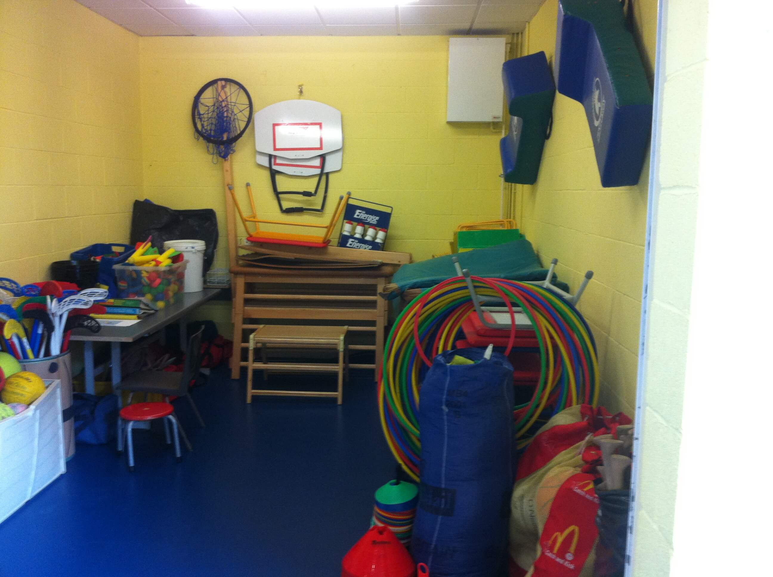 A photo of the St Laurences BNS sports room